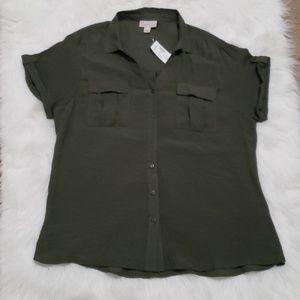 Dressbarn Glam Camp Shirt